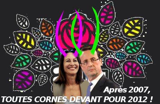 campagne2012-cornes-de-cocu-président-Hollande-Royal