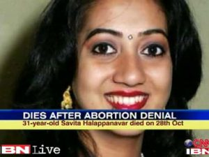 A letter at random in Ireland for the case Savita Halappanavar