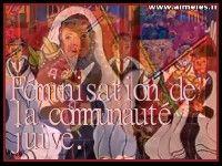 Féminisation de la communauté juive.