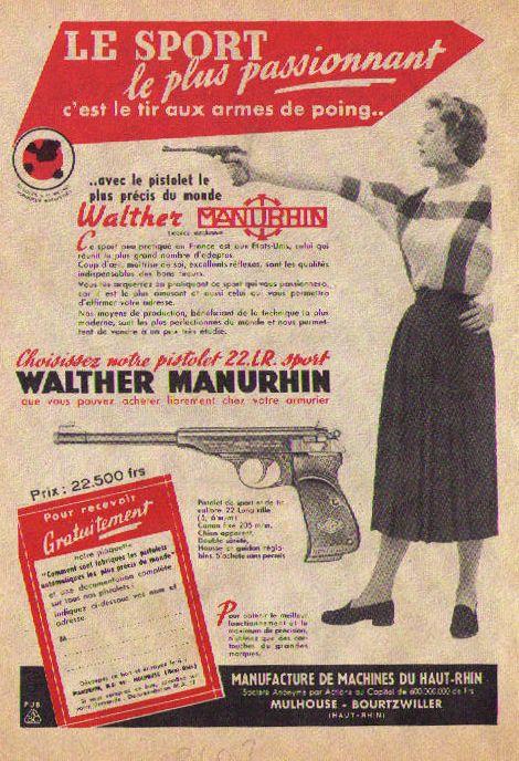 Walther Manuhrin arme femme avec arme 62