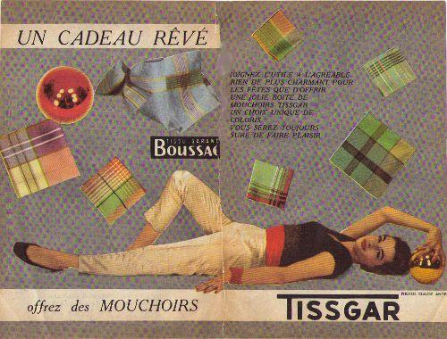 Tisgard Bouvier publicité dec 56