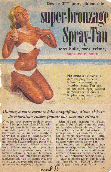 Spray-Tan publicité aout56