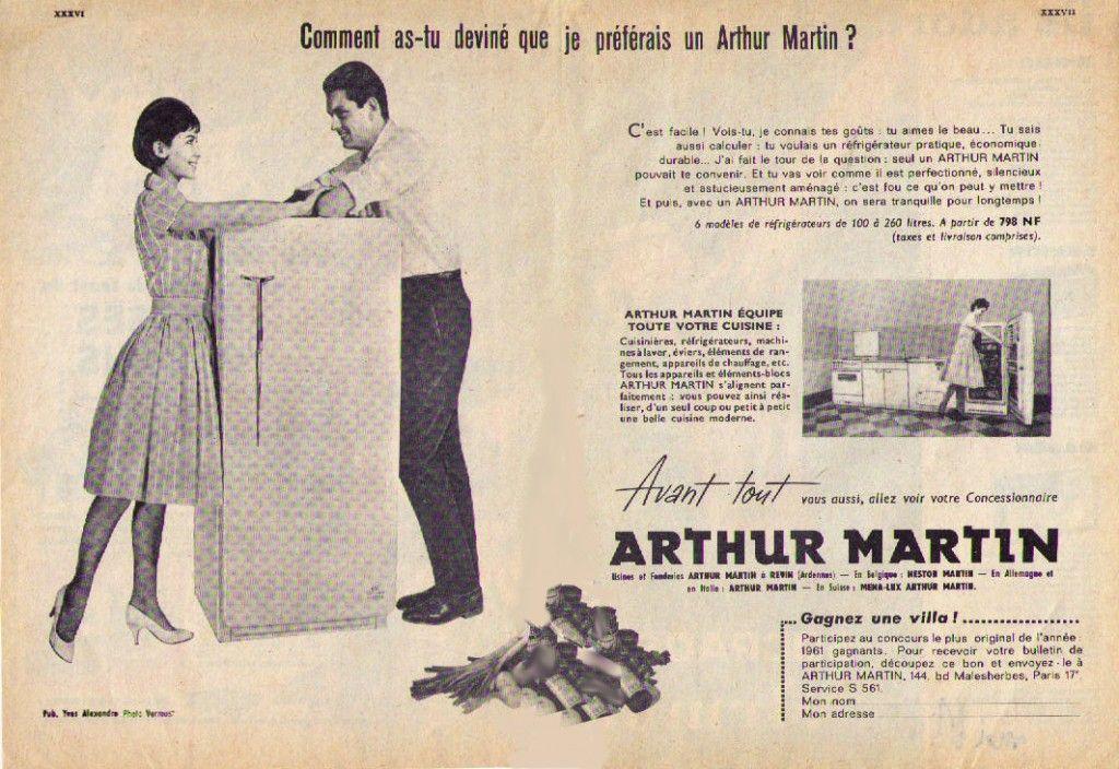 Arthur Martin publicité tu as deviné mes désirs