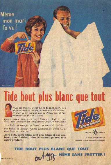 Tide publicité plus blanc que blanc