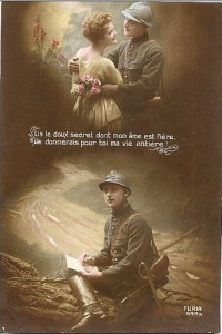 poème de soldat carte postale guerre 14 18