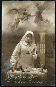 l'ange tutélaire infirmière soutien guerre 14 18