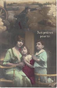 Nos prières pour toi carte postale